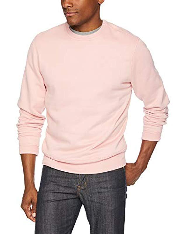 52c722b0e0 Lyst - Amazon Essentials Crewneck Fleece Sweatshirt in Pink for Men