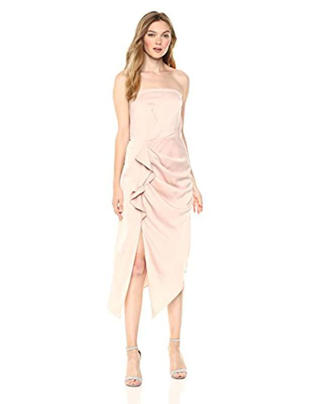 6379595c796c Lyst - C meo Collective No Less Strapless Gathered Midi Dress With ...