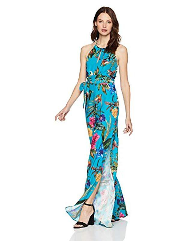7059242c0f3f Lyst - Parker Megara Sleeveless Tie Waist Full Leg Jumpsuit in Blue