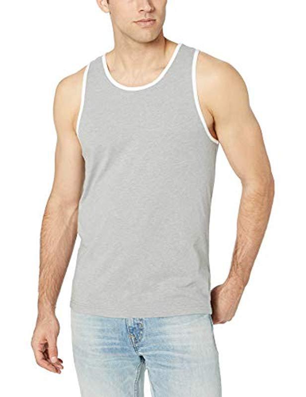 83dab3f4292fe7 Lyst - Amazon Essentials Slim-fit Ringer Tank Top in Gray for Men