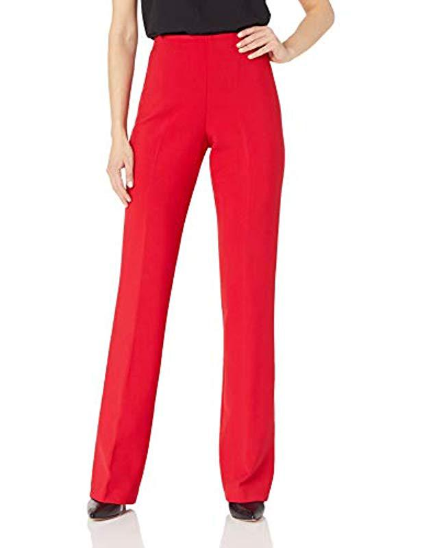 fa183a62f2 Lyst - Trina Turk Chimayo Side Zip Flare Leg Pant in Red