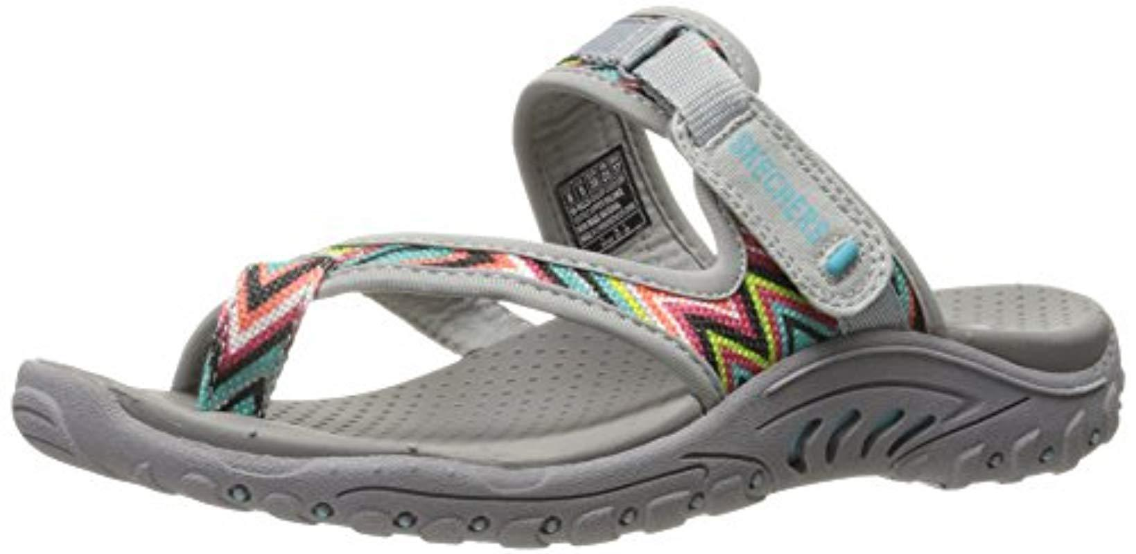 e90c6bcbfdb5 Lyst - Skechers Reggae-Zig Swag Flip-flop Sandals in Gray - Save ...