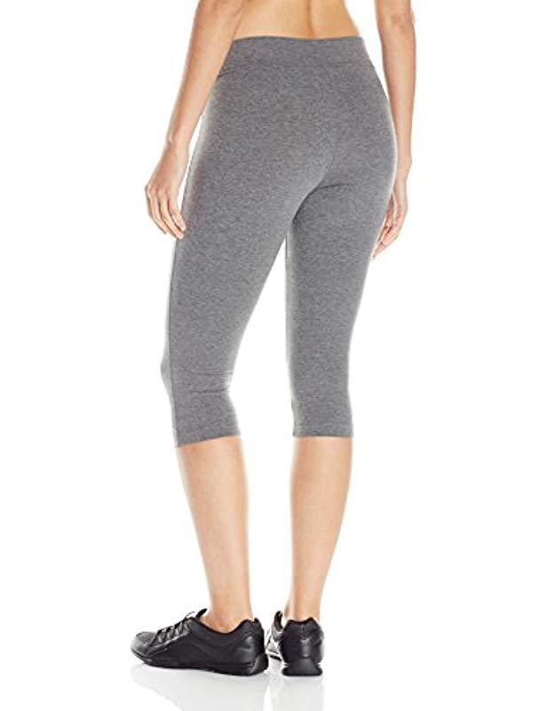 3d73a3780389e Lyst - Danskin Capri Legging in Gray - Save 5%