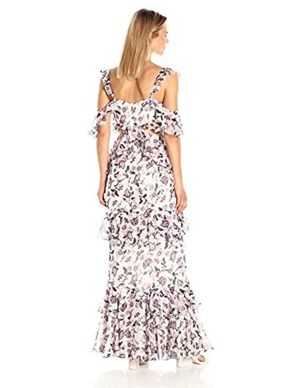 37918d5105f AMUR Priscilla Floral Gown in White - Lyst