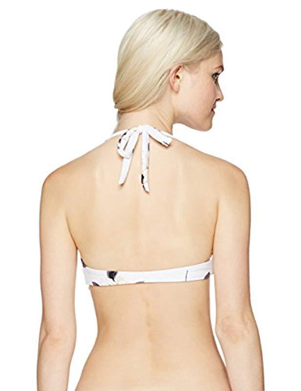 71f929f573 Lyst - O neill Sportswear Bianca Halter Bikini Top in White