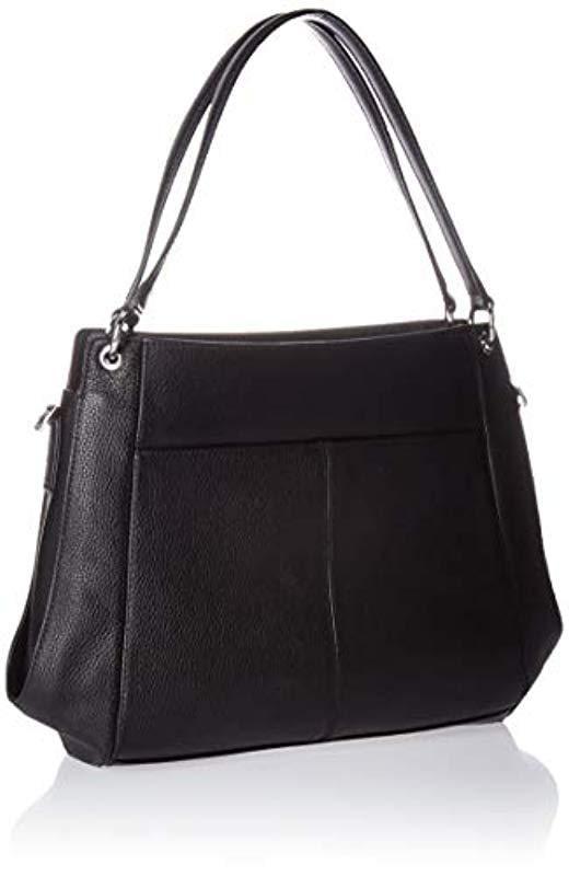 Calvin Klein - Black Melanie Pebble Leather Slouchy Zip Face Hobo - Lyst.  View fullscreen ec33686acba62