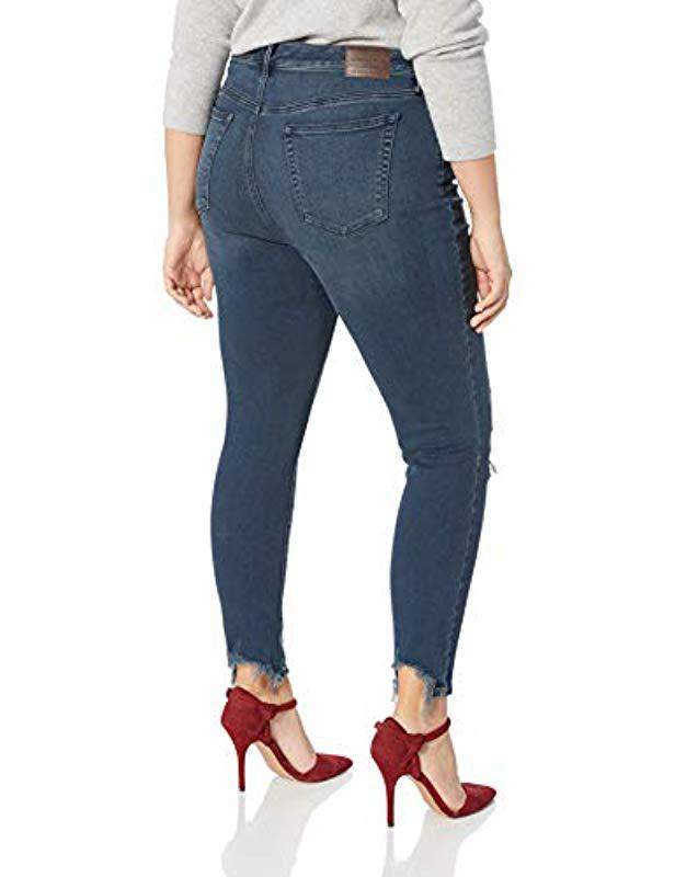 e0a2ad023ac Lyst - Lucky Brand Plus Size Mid Rise Lolita Super Skinny Jean In Palacios  Chew in Blue