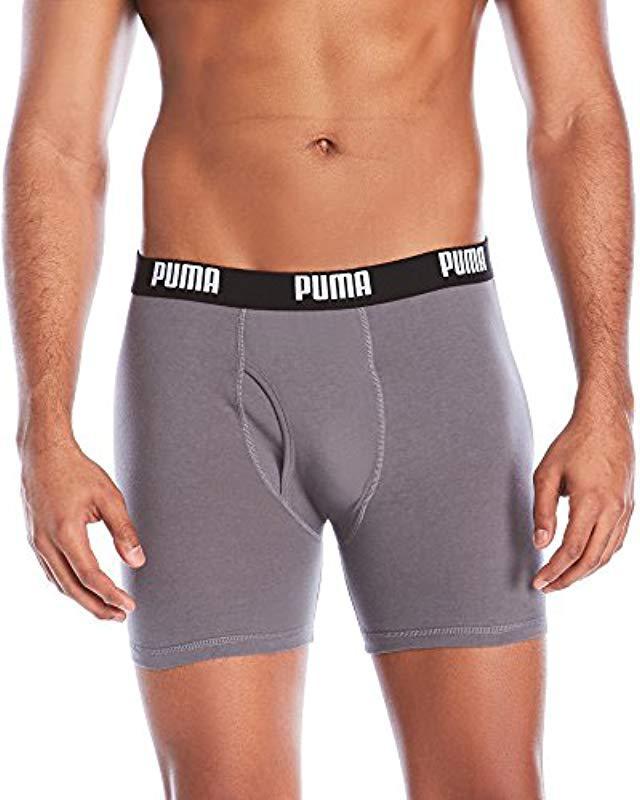 6928a32c62f7 Lyst - PUMA 3 Pack Cotton Boxer Briefs for Men - Save 54%