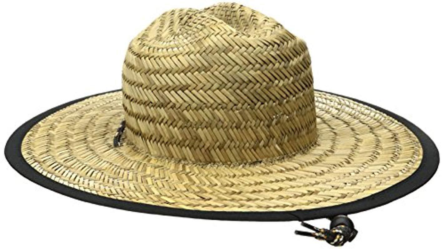 b4c5d055bca Rip Curl - Natural Paradise Straw Lifeguard Sun Hat for Men - Lyst. View  fullscreen