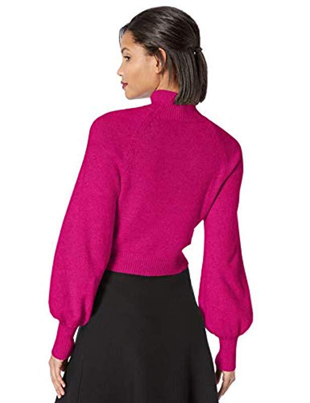 240fcf85cf9 BCBGMAXAZRIA Turtleneck Cropped Sweater - Save 34% - Lyst
