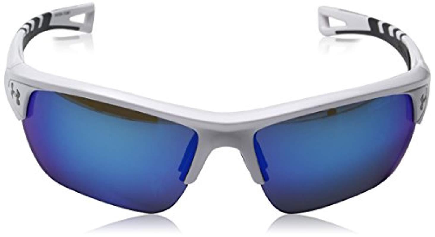 dcc2b1b47a Lyst - Under Armour Ua Octane Wrap Sunglasses in Blue for Men - Save 43%