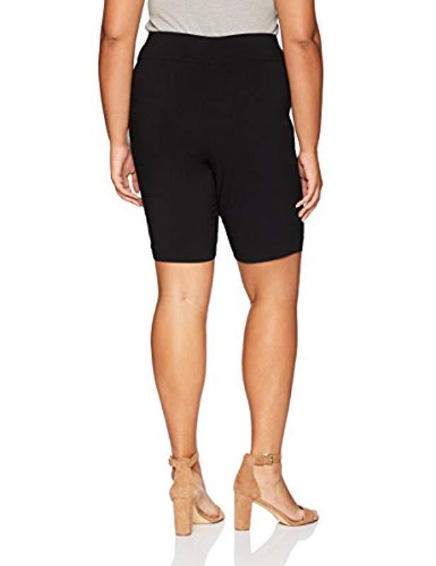 c0d2c8bb246d Lyst - Rafaella Plus Size Supreme Stretch Short in Black - Save 50%