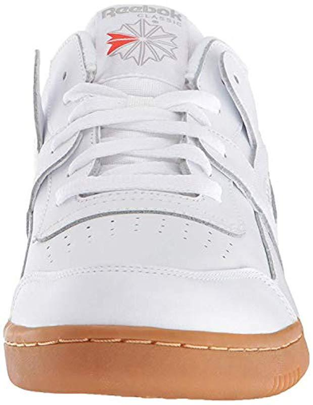 Lyst - Reebok Workout Plus Cross Trainer in White for Men - Save 44% 2d83c274c