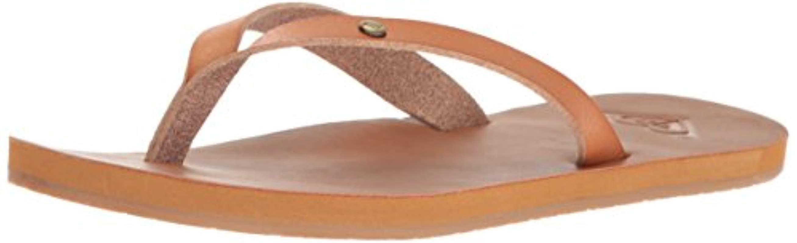 3fcfe29ee15 Lyst - Roxy Jyll Flip Flop Sandal in Brown