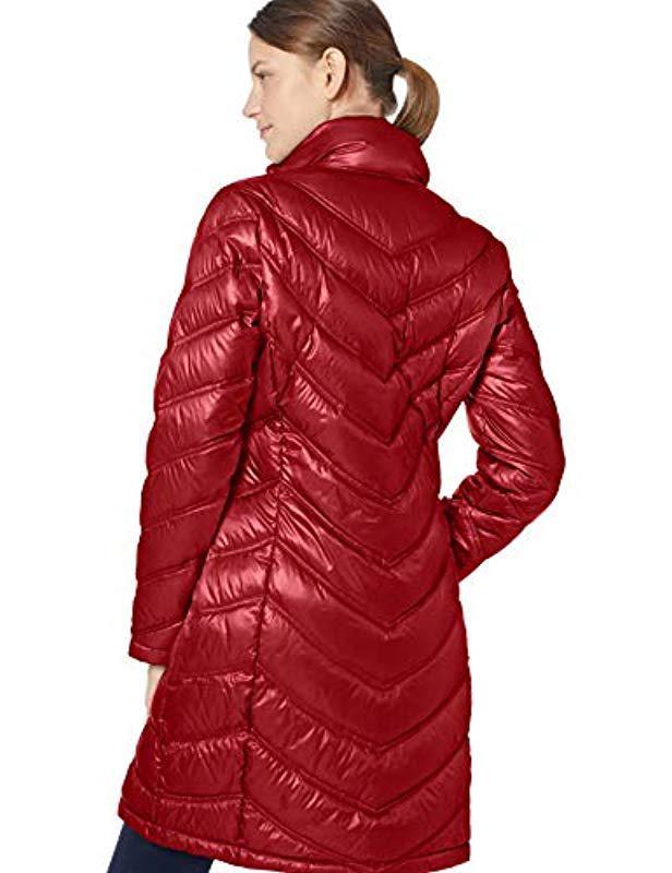 2fc1136bc12 Calvin Klein Women S Plus Size Chevron Quilted Packable Down Coat ...