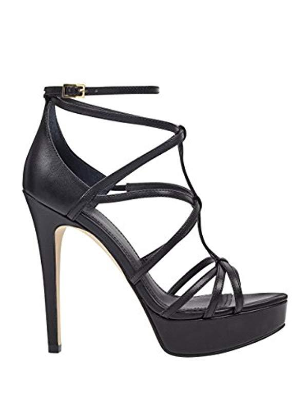 edf55a22330 Lyst - Guess Kico Heeled Sandal in Black - Save 56%