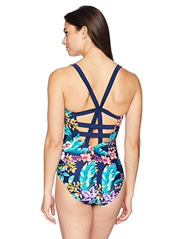 1fa72f5954214 Lyst - Coastal Blue Swimwear Freestyle One Piece Swimsuit in Blue - Save 72%