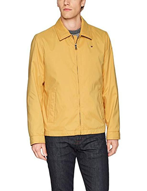39bc50e2 Lyst - Tommy Hilfiger Lightweight Microtwill Golf Jacket in Yellow for Men