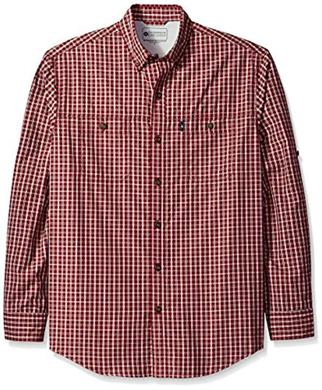 5884ee831 Lyst - G.H.BASS Explorer Survivor Point Collar Long Sleeve Fishing Shirt in  Red for Men - Save 39%