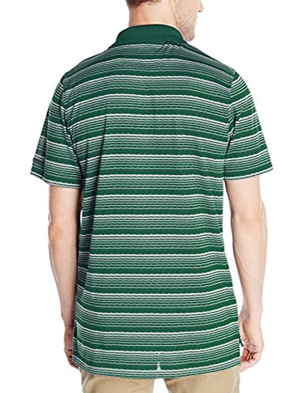7ba5dcbd4239 Lyst - Russell Athletic Striped Jersey Golf Polo in Green for Men - Save 68%