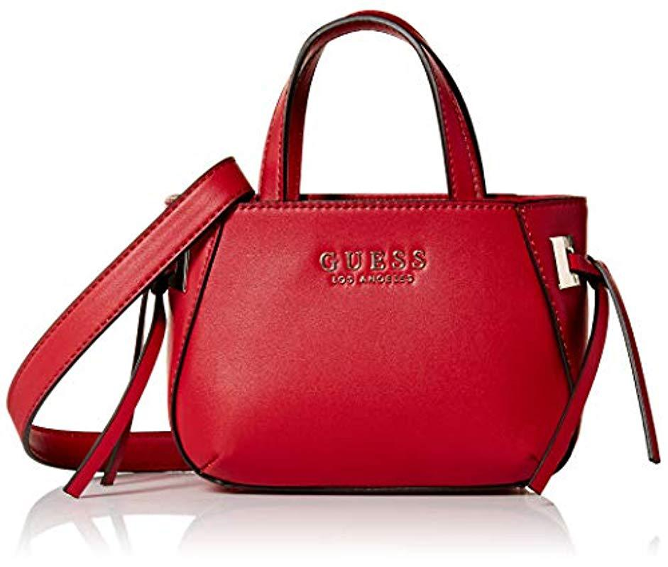 Lyst - Guess Lizzy Mini Tote in Red 4d3df67997