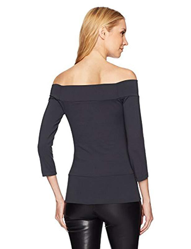 f1e582f36131f Lyst - Susana Monaco Band Off The Shoulder Top