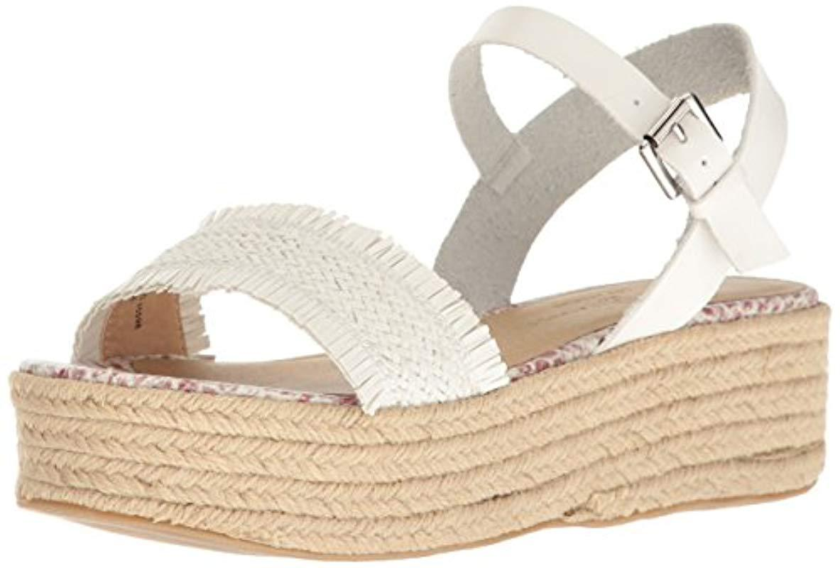 1276adb667d Lyst - Chinese Laundry Ziba Espadrille Wedge Sandal in White