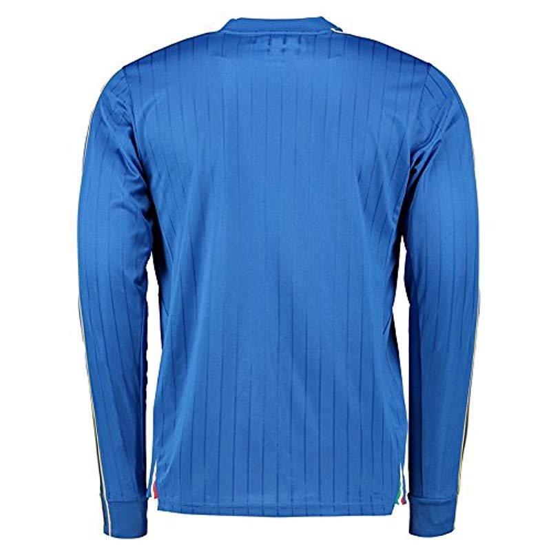 4d2e352b22c PUMA - Blue Figc Italia Home Long Sleeve Replica Shirt for Men - Lyst. View  fullscreen