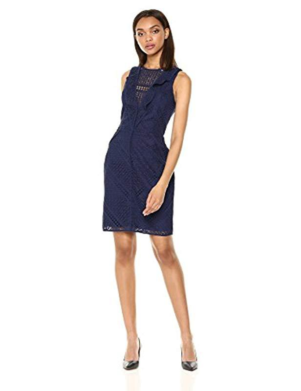 6565ff9f8f962 Lyst - Adelyn Rae Maxine Woven Lace Sheath Dress in Blue - Save 70%