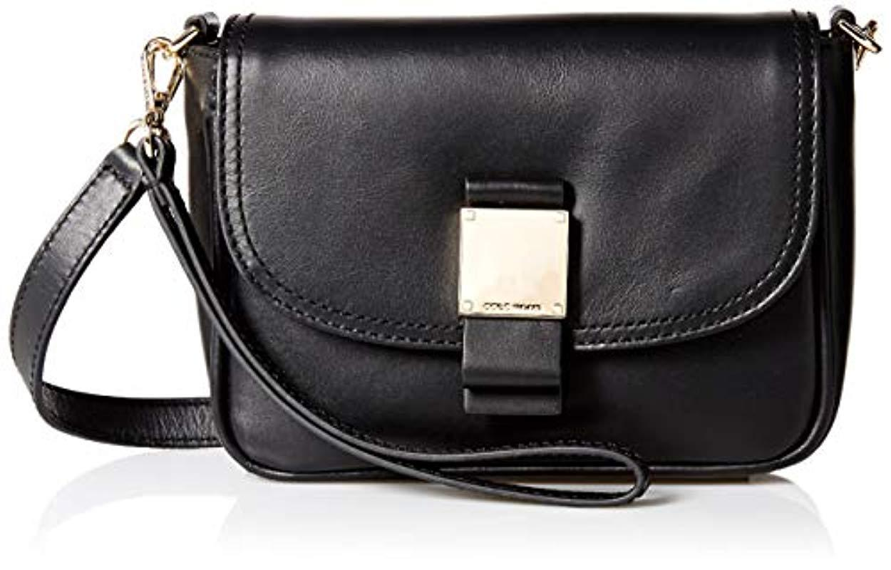 30d29e09aeb Cole Haan Tali Leather Convertible Crossbody in Black - Lyst