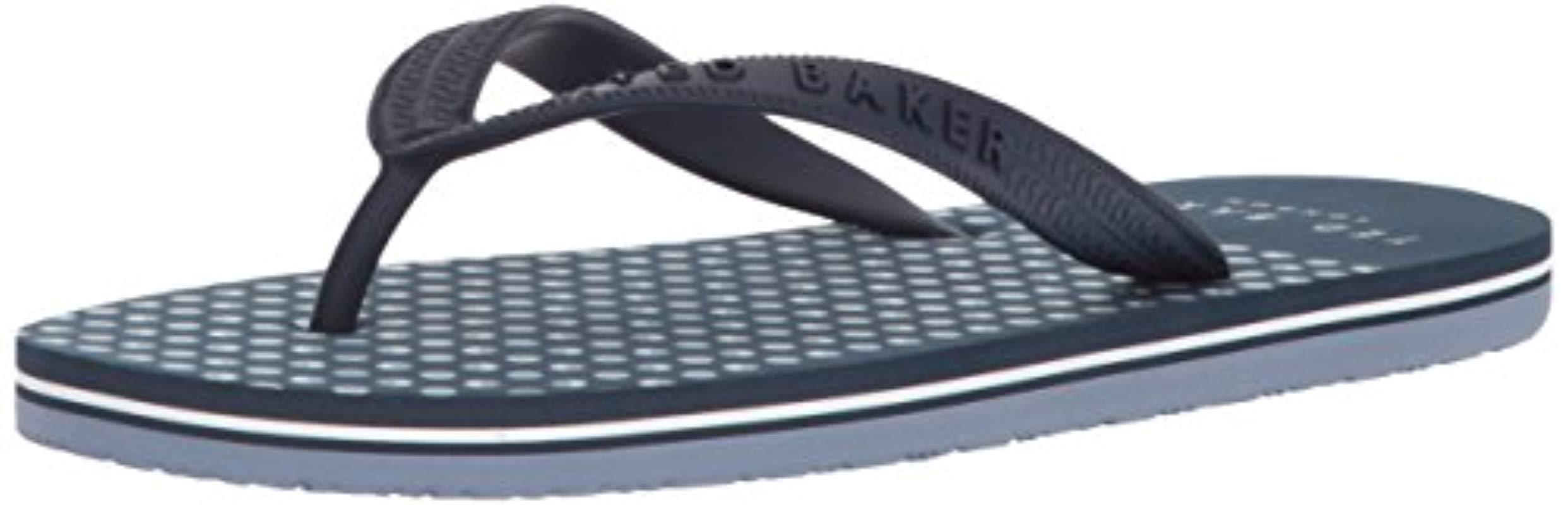efc12a1f4 Lyst - Ted Baker Rubber Flip Flops in Blue for Men - Save 49%