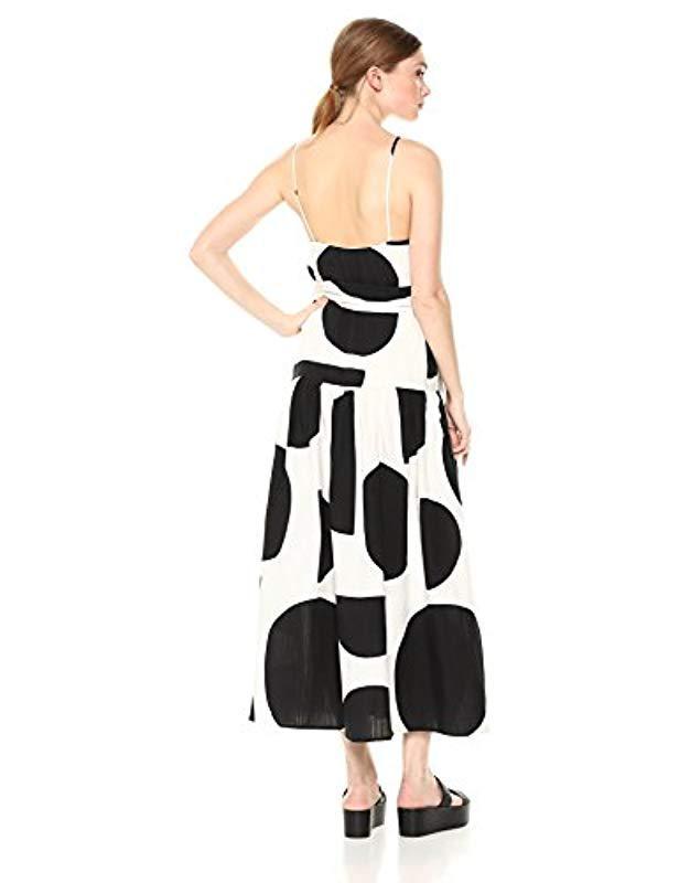 13f045bf62 Mara Hoffman Renata Drop Waist Belted Midi Dress in Black - Lyst