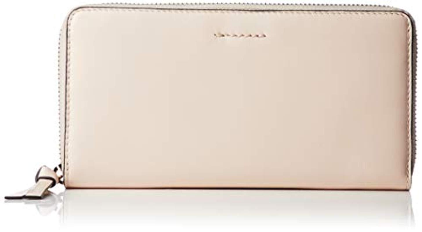 f29f1e99f1 Lyst - Cole Haan Kaylee Continental Zip Around Leather Wallet in Natural
