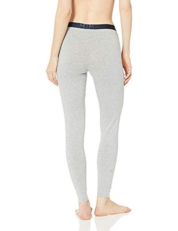 724ce288faf187 Tommy Hilfiger - Gray Retro Style Hilfiger Logo Graphic Leggings Pant  Lounge Pj - Lyst. View fullscreen