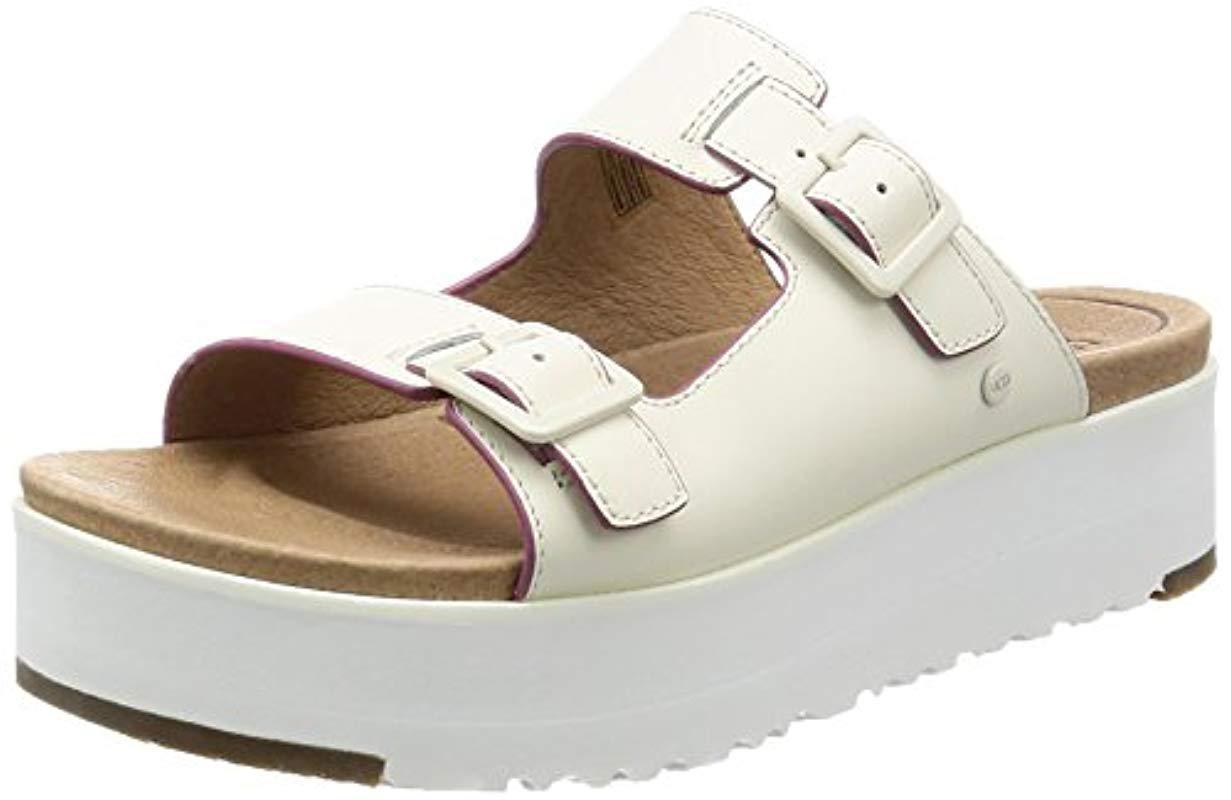 86587b943 Lyst - UGG Hanneli Flat Sandal in White