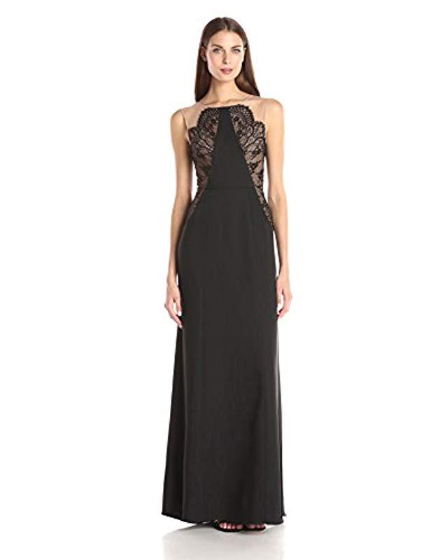Lyst - Bcbgmaxazria Bcbgmax Azria Lilyana Woven Evening Dress in ...