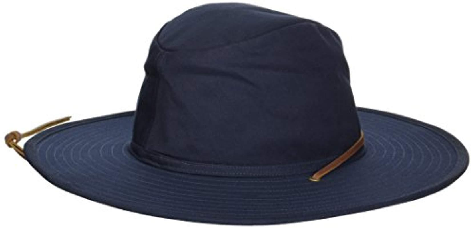 cf03a9b7dd5f2 Brixton - Blue Ranger Ii Wide Brim Cotton Fedora Hat for Men - Lyst. View  fullscreen