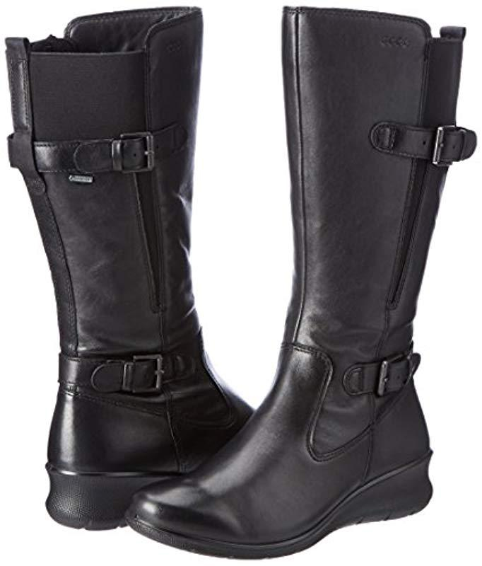 814d9dac131 Ecco - Black Babett Wedge Gore-tex Winter Boot - Lyst. View fullscreen