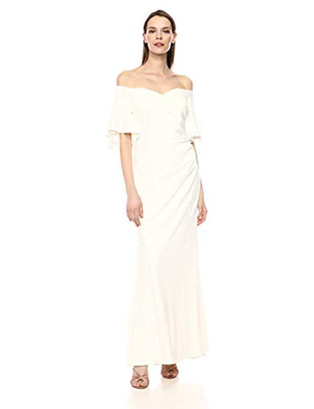 Calvin Sweetheart Off Gown Natural In Shoulder Lyst The Klein f6bygY7
