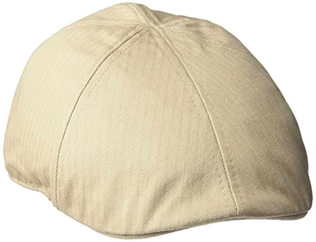 f2b3cb7d1c0 Lyst - U.S. POLO ASSN. Solid Herringbone Twill Ivy Cap in Natural ...
