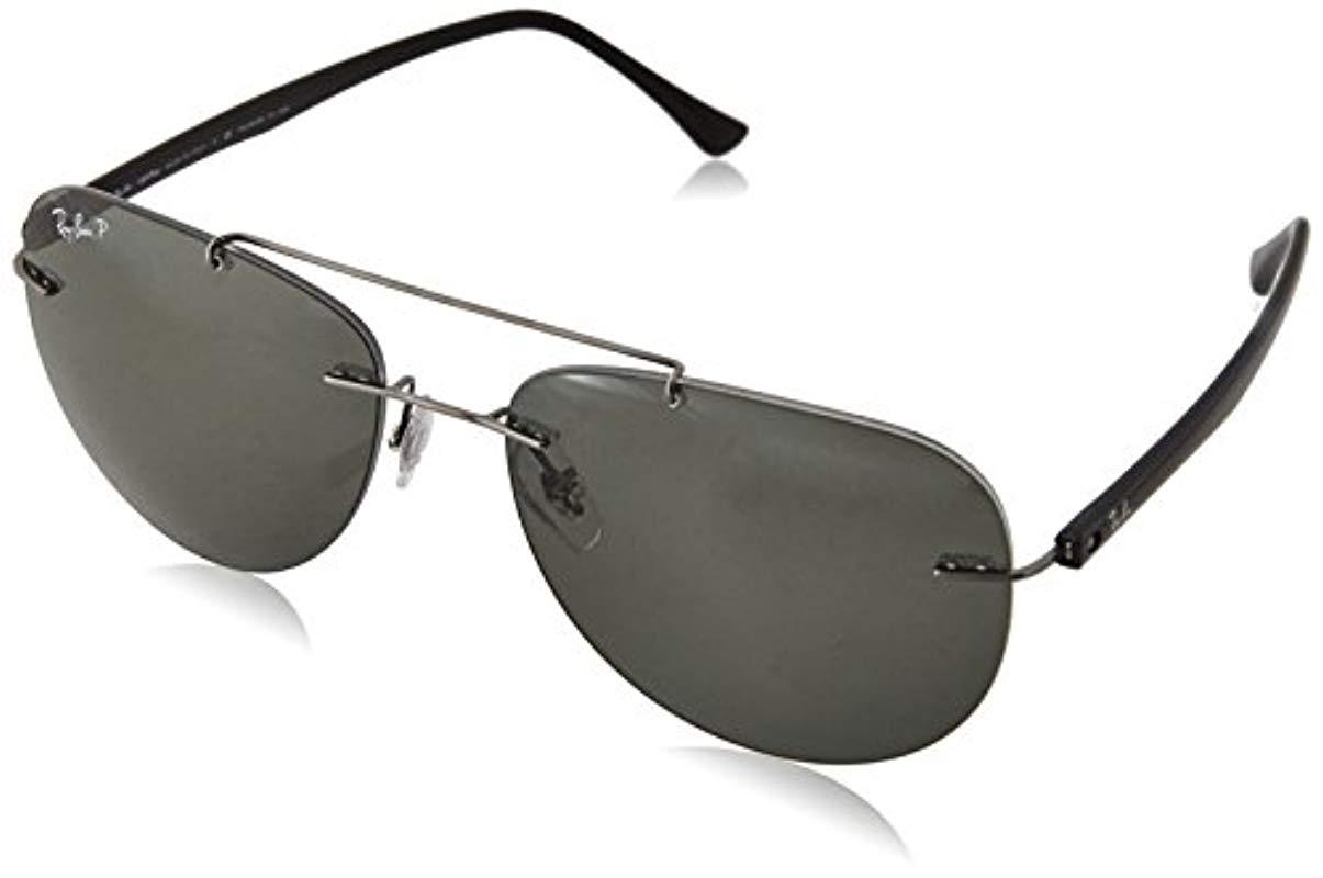 95cb7a85b8f7f ... netherlands ray ban. mens titanium man sunglass polarized 42045 65997