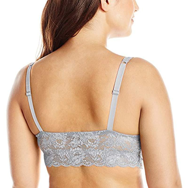 c7e44caba4 Cosabella - Gray Plus-size Never Say Never Extended Sweetie Soft Bra - Lyst.  View fullscreen