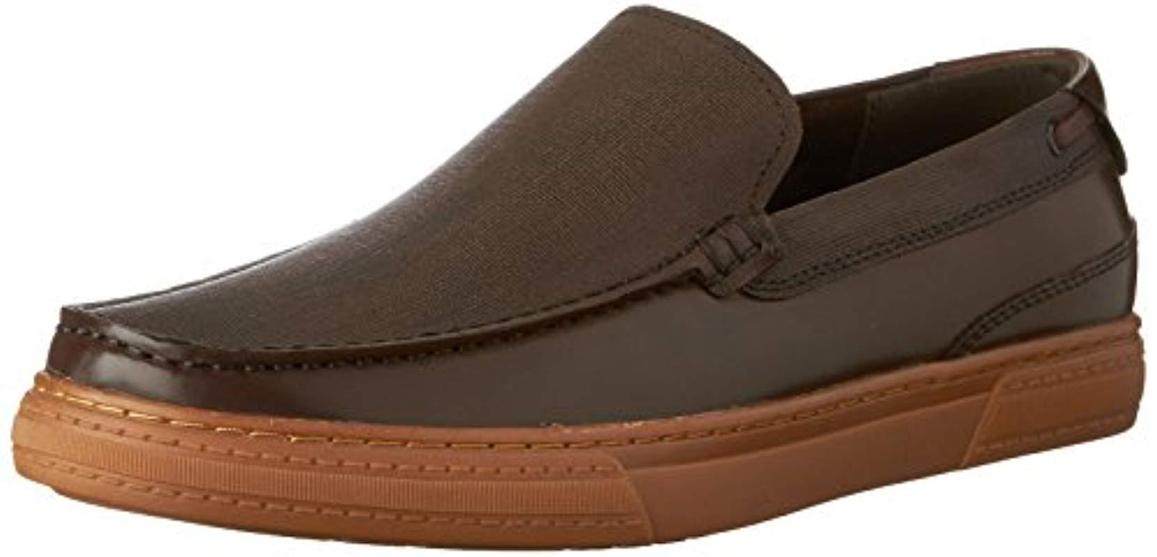 Lyst Kenneth Cole Reaction Draw Back Slip On Loafer In Brown For