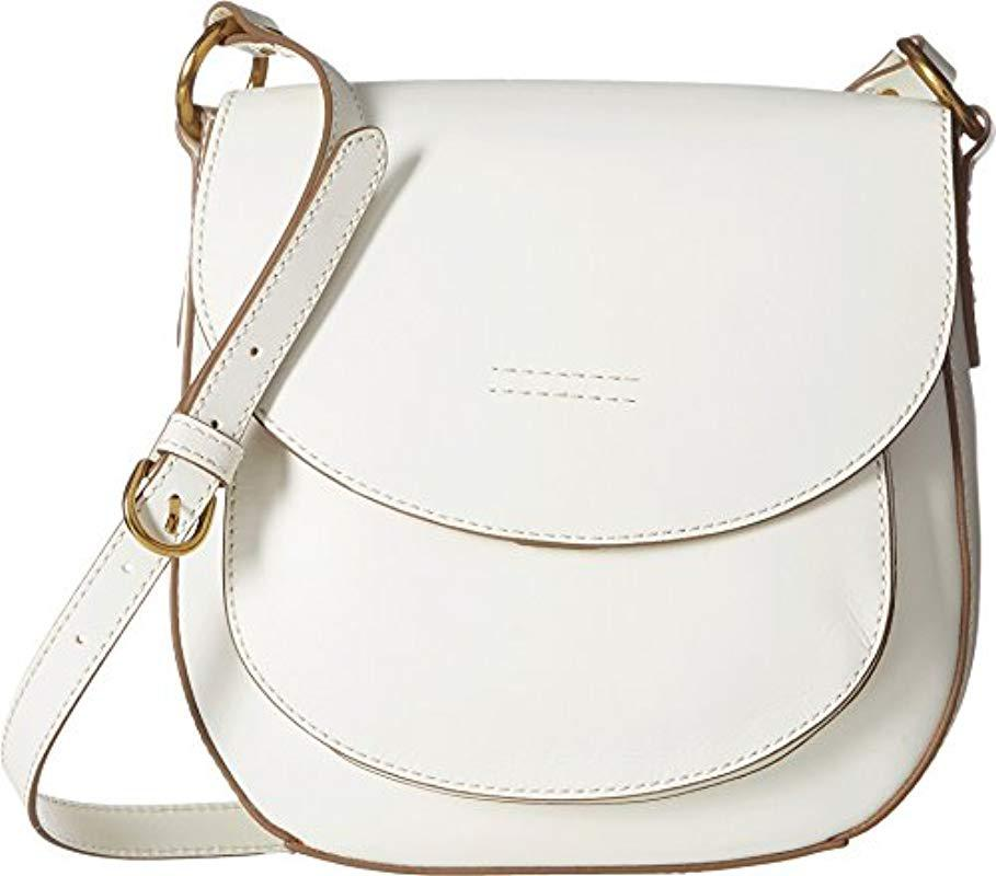 Lyst - Frye Harness Saddle Leather Cross Bag in White