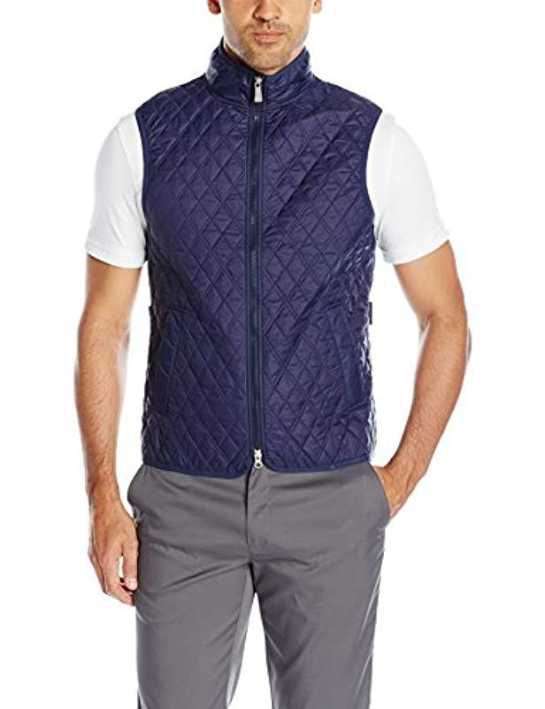 abdbb651 ... Blue Quilted Club Vest for Men - Lyst. View fullscreen