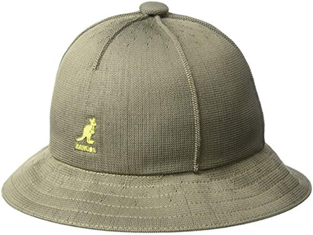 fe6e0a55 Lyst - Kangol Tropic Casual Bucket Hat Wit Seam Details in Green for ...