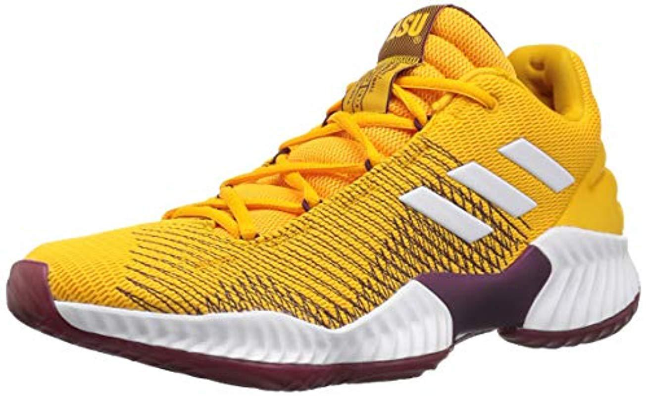 best service 964dc 51164 adidas Originals. Mens Yellow Pro Bounce 2018 Low Basketball Shoe