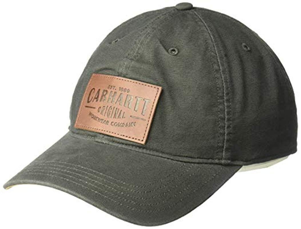 046a6b266afb1 Carhartt Rigby Stretch Fit Leatherette Patch Cap for Men - Lyst