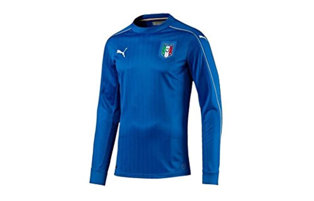 96af6562a0b Lyst - PUMA Figc Italia Home Long Sleeve Replica Shirt in Blue for Men