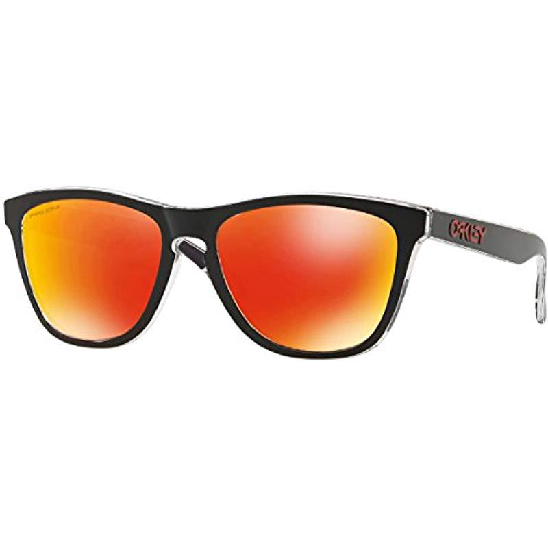 55be3876ea4 Lyst - Oakley Frogskins 009013 Wayfarer Sunglasses in Black for Men ...